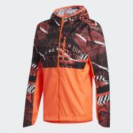 Ветровка Adidas OWN THE RUN JKT FL6988 р.S оранжевый