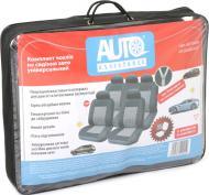 Комплект чохлів на сидіння  11 елементів AUTO ASSISTANCE JJ130308/D.GY чорний