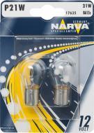Лампа галогенна Narva P21W 17635 P21W BA15S 12 В 21 Вт 2 шт