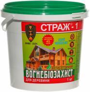 Огнебиозащита Страж-1 ХМББ сухая смесь, ведро 1 кг