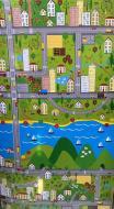 Ігровий килимок Termoizol Паркове місто 120х120х0,8 см