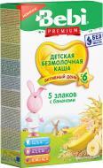 Каша безмолочная Bebi Premium 5 злаков с бананом 3838471035606 200 г