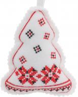 Мягкая игрушка Елка с вышивкой 11 см
