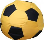 Кресло-мешок Мяч L желтый с черным