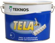 Ґрунтувальна фарба акрилатна TEKNOS TELA 3 глибокий мат 9л