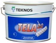 Фарба інтер'єрна акрилатна TEKNOS TELA 20 напівмат білий 2,7л