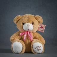 Мягкая игрушка Медвежонок I Love you 28 см 4840437606163