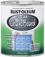 Фарба грифельна Rust Oleum Chalk Board для школьных досок чорний 0,887 л 1,4кг