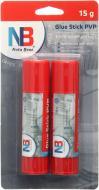 Клей-олівець PVP 15 г 2 шт Nota Bene
