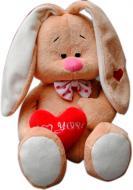 Мягкая игрушка Зайка Кроха с сердцем 35 см 4840437601380