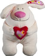 Мягкая игрушка Кролик с сердцем 35 см 4840437605487
