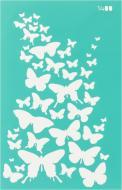 Трафарет багаторазовий самоклейкий Фоновий №1400 серія Метелики 130x200 мм Rosa Talent