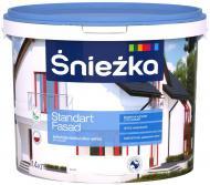 Фарба акрилова водоемульсійна Sniezka Standart Fasad мат білий 10л 14кг