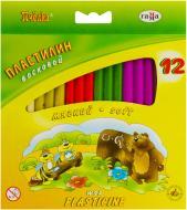 Пластилін Бджілка восковий 12 кольорів Гамма