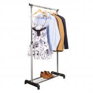 Напольная вешалка для одежды одинарная стойка с подставкой для обуви Trends (RV8006)