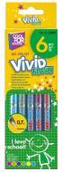 Набір ручок гелевих Vivid Flash 6 кольорів неон Cool For School