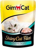 Корм Gimpet  GimCat ShinyCat Filet шматочки тунця з криветками у бульоні 70 г G - 412863