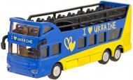 Автомодель Технопарк Автобус двоповерховий Україна 1:43 SB-16-21-UKR