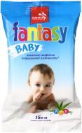 Дитячі вологі серветки Fantasy алое та вітаміни 15 шт.