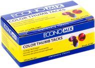 Кнопка Economix E41103 неонові кольорові 100 шт