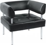 Диван-крісло прямий Примтекс Плюс D 03 D-5 черный 730x680x740 мм