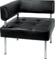 Диван-крісло кутовий Примтекс Плюс D 04 D-5 чорний 680x680x740 мм