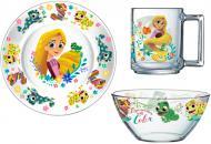 Набір дитячого посуду Disney Рапунцель 3 предмета ОСЗ