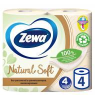 Туалетний папір Zewa Natural Soft чотиришаровий 4 шт.