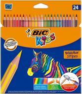 Олівці кольорові Evolution Stripes BIC