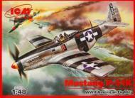 Збірна модель ICM американський винищувач Мустанг Р-51 К Другої світової війни 1:48
