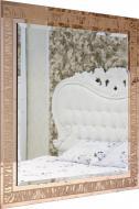 Зеркало Бусел 1000x1000 мм золотой