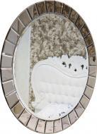 Зеркало Бусел круглое с бевелсами 1000x1000 мм