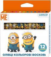 Олівці кольорові воскові, 12 кольорів Despicable Me © Universal Studios Перо