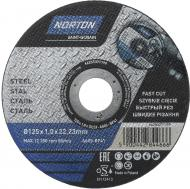 Круг відрізний по металу Norton A60S 125x1,0x22,2 мм