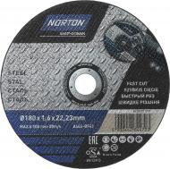 Круг відрізний по металу Norton A46S 180x1,6x22,2 мм