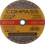Круг відрізний по металу COMPASS 230x2,0x22,2 мм 20536459