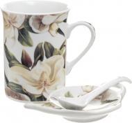 Набор для чая Белая магнолия 3 предмета Keramia