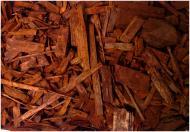 Мульча деревна декоративна колорована, колір КАШТАН 70 л