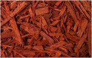 Мульча деревна декоративна колорована, колір ТЕРРАКОТ 70 л