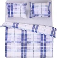 Комплект постельного белья Синяя клеточка 2 синий