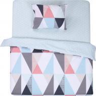 Комплект постельного белья Веселые ромбы 1,5 разноцветный