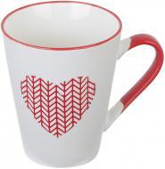 Чашка Wool Heart Red 320 мл Fiora