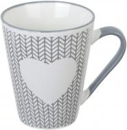Чашка Wool Heart Gray 320 мл Fiora