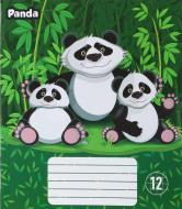 Тетрадь школьная 12 листов в клетку Panda