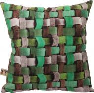 Подушка декоративна Плетінка 3D 40x40 см різнокольоровий