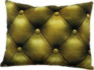 Подушка декоративна Шкіра 3D 40x50 см оливковий