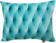 Подушка декоративна Шкіра 3D 40x50 см бірюзовий