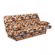Диван прямий AMF Art Metal Furniture Ньюс з 2 подушками полікотон Сіті Браун 1930x950x950 мм