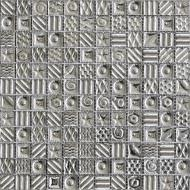 Плитка Grand Kerama Мозаїка моно платина з малюнком №2170 30x30