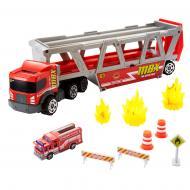 Вантажівка-транспортер Matchbox Дорожня пригода GWM23